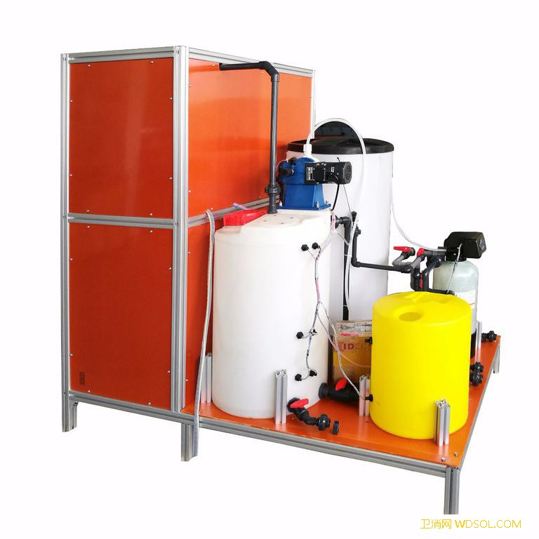 100g微酸性次氯酸发生器 自来水厂1000吨/天供水消毒设备 医院污水消毒_微酸性次氯酸-电极-消毒-电解槽-