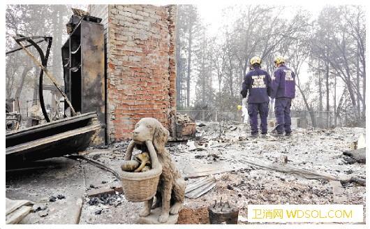 美加州山火持续肆虐起火原因仍不明_加州-山火-起火-